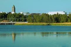 Helsinki city stock photo