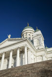 Helsinki city cathedral in senate square finland Stock Image
