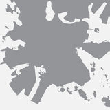 Helsinki city map in gray on a white background Royalty Free Stock Images