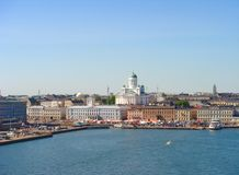 Helsinki city view royalty free stock images