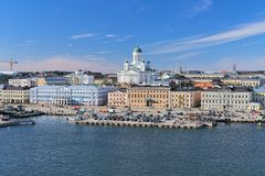 Helsinki cityscape with Cathedral, Finland Stock Photos