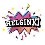 Helsinki Comic Text in Pop Art Style. Vector Illustration Royalty Free Stock Photos