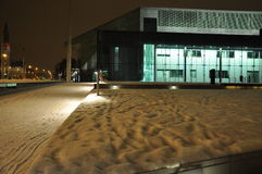 Helsinki contemporary architecture in winter. Night view Royalty Free Stock Photography