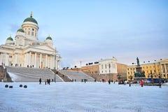 Helsinki, cuadrado de la catedral Imagen de archivo libre de regalías