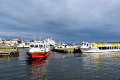 Helsinki. De Haven van het zuiden vóór het onweer royalty-vrije stock afbeelding