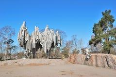 Helsinki. Denkmal zu Sibelius Stockbild