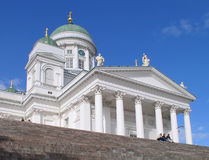 The Helsinki Dom. The Dom in Helsinki - frontview royalty free stock photography