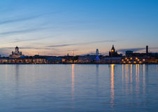 Helsinki in the dusk. Night scenery of Helsinki, Finnland Stock Photo