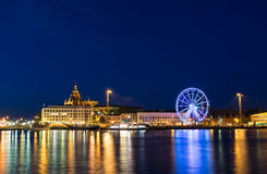 Helsinki in the dusk. Night scenery of Helsinki, Finnland Royalty Free Stock Photography