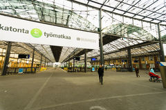 Helsinki dworca wnętrze Fotografia Royalty Free