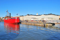 Helsinki. Famous Kauppatori in the   morning Stock Photography