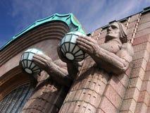 Helsinki fasadowy stacji pociągu Zdjęcia Royalty Free
