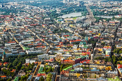 Helsinki Finland. Aerial view of Helsinki, capitol of Finland Stock Images