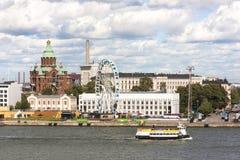 HELSINKI, FINLAND - AUGUST 27, 2016: Cityscape of Helsinki, capi stock photos