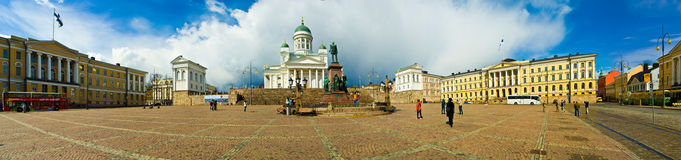 Helsinki, Finland. Helsinki Cathedral and Senate Square, Helsinki, Finland stock photography