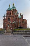 Helsinki, Finland. Cathedral of the Assumption of the Blessed Virgin Mary Stock Photos