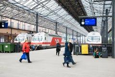 Helsinki. Finland. Centraal Station stock foto's