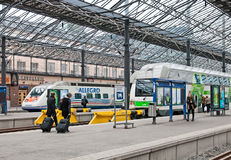 Helsinki. Finland. The Central Railway Station Royalty Free Stock Image