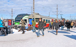 Helsinki. Finland. Central Railway Station Royalty Free Stock Images