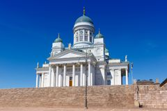 Helsinki Finland church Cathedral Tuomiokirkko copyspace travel Stock Images