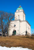 Helsinki. Finland. Church-lighthouse in Suomenlinna Stock Photos