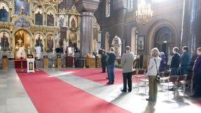Helsinki. Finland. De kathedraal van Uspensky stock afbeelding