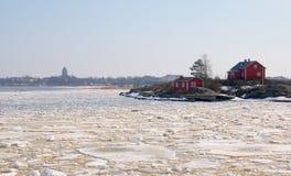 Helsinki. Finland. De mening van Suomenlinna royalty-vrije stock fotografie