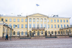 Helsinki, Finland - 21 December 2015: Building of Presidential Palace. Royalty Free Stock Images