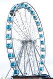 Helsinki, Finland 21 December 2015 - Ferris Wheel in haven van Helsinki Royalty-vrije Stock Foto's