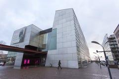 Modern contemporary art museum building. Helsinki, Finland - December 27, 2017: modern contemporary art museum building is located at helsinki finland stock photography