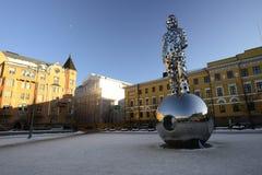 HELSINKI, FINLAND - FEBRUARI 24, 2018: Het Nationale Gedenkteken aan Royalty-vrije Stock Afbeelding