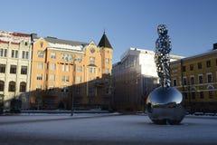 HELSINKI, FINLAND - FEBRUARI 24, 2018: Het Nationale Gedenkteken aan Royalty-vrije Stock Foto's