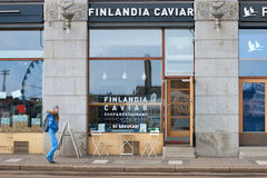 Helsinki. Finland. Finlandia Caviar Shop and Restaurant Stock Images
