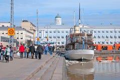 Helsinki. Finland. Floating Restaurant Nicholas II Stock Image