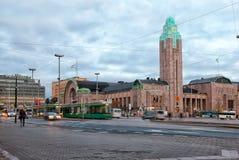 helsinki finland Het Centrale Station Stock Foto
