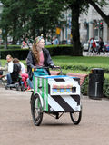 Helsinki, Finland. The ice cream seller Stock Photo