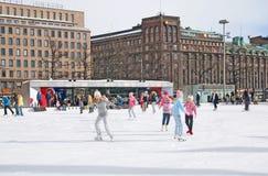 Helsinki. Finland. Icepark Royalty Free Stock Image