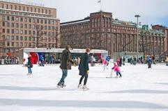 Helsinki. Finland. Icepark Stock Photography