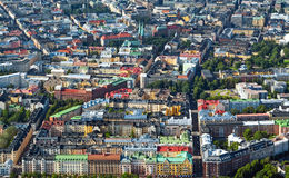 Helsinki Finland III. Aerial view of Helsinki, capital of Finland Royalty Free Stock Photos