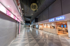 HELSINKI, FINLAND - JANUARY 31, 2017: Empty Helsinki Vantaa Airport. Departure Area. Cofe Tori. Empty Helsinki Vantaa Airport. Departure Area. Cofe Tori Royalty Free Stock Image