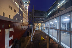 HELSINKI, FINLAND-JANUARY 5 : The ferry Viking Line is moored at Stock Photography