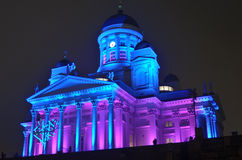 HELSINKI, FINLAND � JANUARY 5, 2014: The Lux Helsinki light even. T, arranged for the sixth time between 4 and 8 January 2014, brought 150,000 visitors Stock Photography