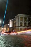 HELSINKI, FINLAND � JANUARY 5, 2014: The Lux Helsinki light even Royalty Free Stock Images