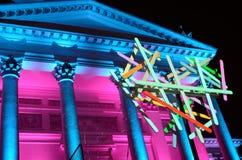 HELSINKI, FINLAND � JANUARY 5, 2014: The Lux Helsinki light even Royalty Free Stock Image