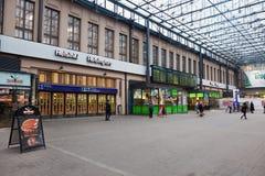 HELSINKI, FINLAND - JANUARY 07:railway station of the city of He Royalty Free Stock Photo