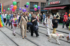 Helsinki, Finland, 29 June 2013. During the gay parade Royalty Free Stock Images