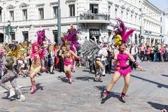 HELSINKI, FINLAND - JUNE 10, 2017: Helsinki Samba Carnaval celeb Stock Image