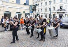 HELSINKI, FINLAND - JUNE 10, 2017: Helsinki Samba Carnaval celeb Stock Photos