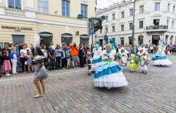 HELSINKI, FINLAND - JUNE 10, 2017: Helsinki Samba Carnaval celeb Royalty Free Stock Photo