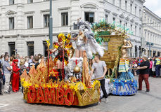 HELSINKI, FINLAND - JUNE 10, 2017: Helsinki Samba Carnaval celeb Stock Photography